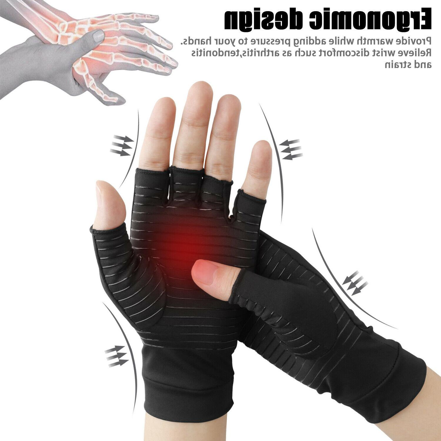 copper fit compression gloves arthritis carpal tunnel