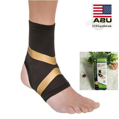 Copper Ankle Sleeve Motion Brace Support