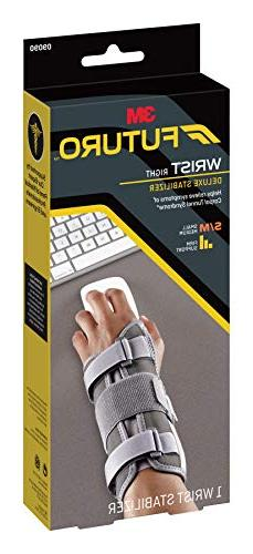 Futuro Deluxe Helps Relieve Carpal Tunnel Syndrome, Stabilizing Support, Hand, Small/Medium,