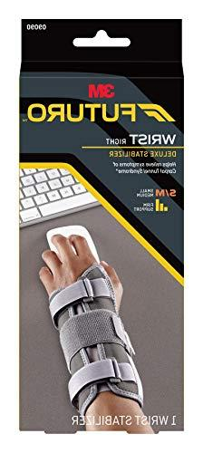 Futuro Deluxe Wrist Helps Relieve Symptoms Carpal Tunnel Stabilizing Support, Right Small/Medium,