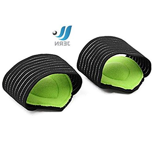 JERN Thick Cushioned Compression Arch with More Plantar Fallen Heel Feet and Pain Problems