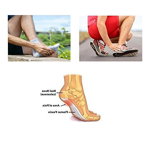 JERN Thick Cushioned Compression Arch Support More for Plantar Fasciitis, Fallen Heel Flat Feet and Pain
