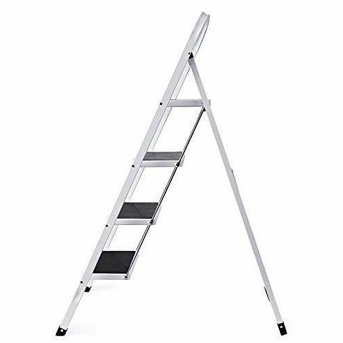 Delxo Folding 4 Step Ladder Ladder With Convenient