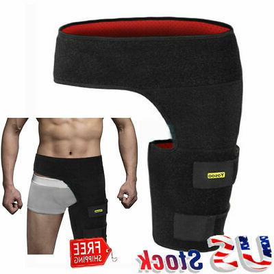 groin thigh brace wrap strain pain support