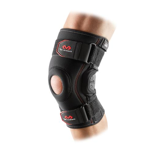 knee brace w polycentric hinges and cross