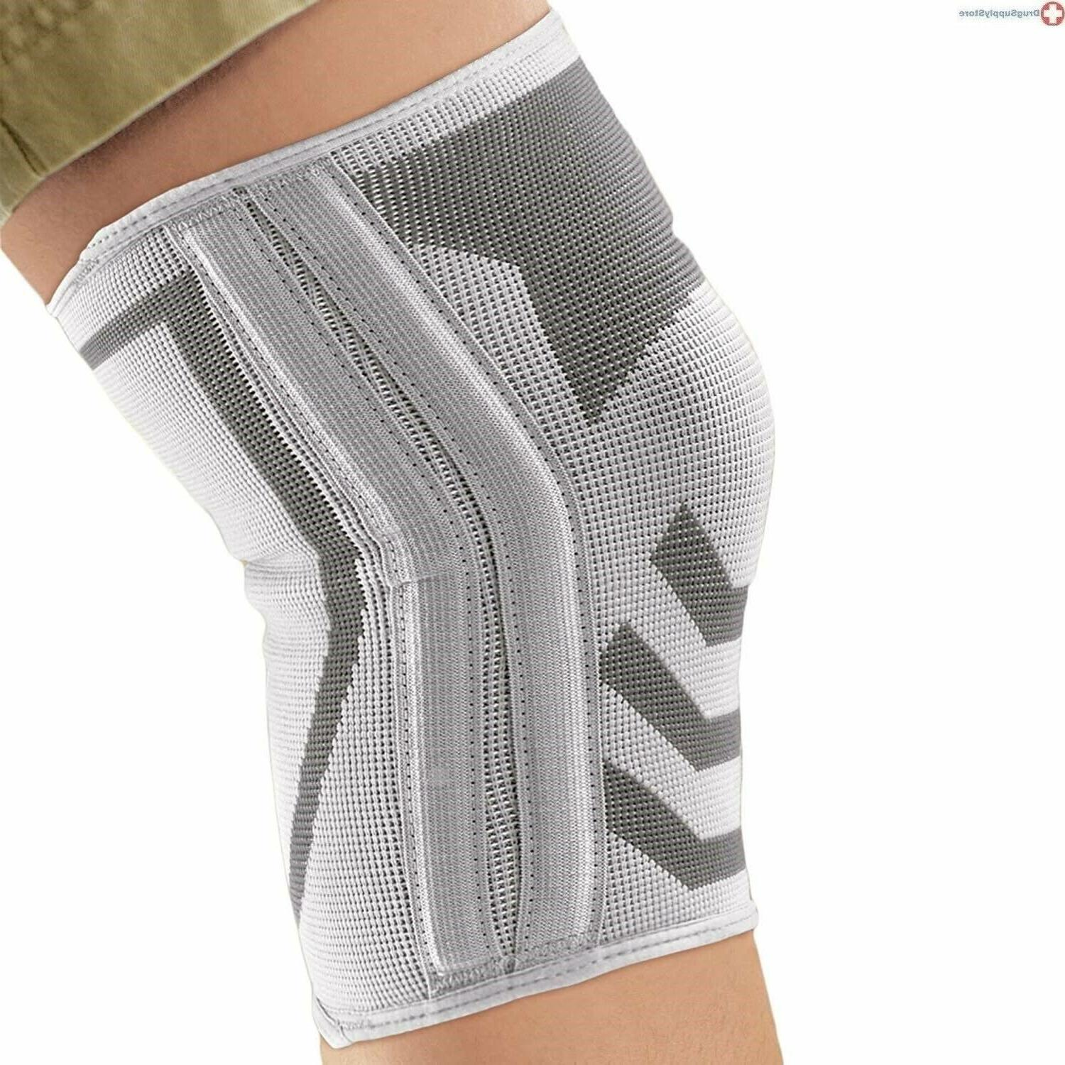 ACE Knitted Knee Brace with Side Stabilizers, Large, America