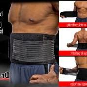 Lower Back Belt Stabilizing Protects Back Pain Dual Straps Panels Top Rated Waist Support Belt