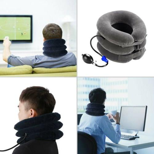Neck Pillow Collar Pain Relief Traction Support