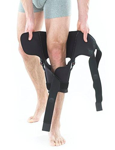 Neo G Brace, Fit Open Patella - Support For Arthritis, Joint Pain, Tendon, Ligament ACL, Injury Recovery - Dials - Medical Device Size Black