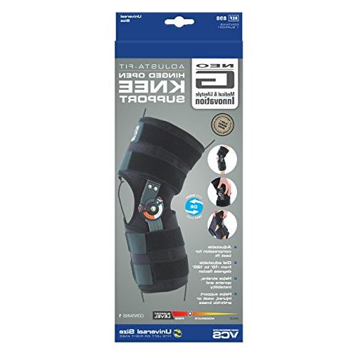 Neo G Knee Brace, - Open For Tendon, Injury - Dials - Medical Size - Black