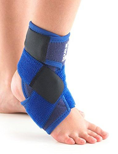 Neo G Ankle for Kids - Support For Juvenile Joint Ankle Injuries, Adjustable Compression - Class 1 Device One -Blue