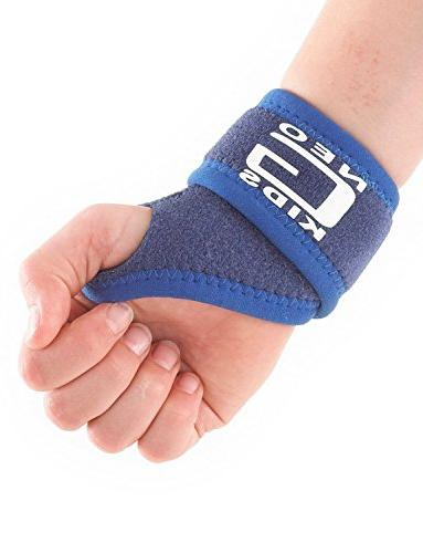 Neo G for Kids - For Juvenile Pain, Hand Sports, Gymnastics, Tennis - Adjustable - 1 Medical Device One Blue
