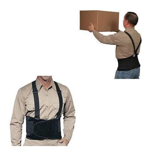New Weight Lift Lumbar Lower Back Support Belt Suspenders Work