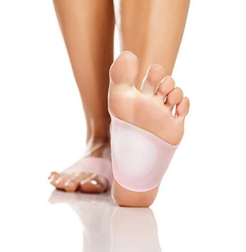 Best Support with Gel Pads - Compression Sleeve Wrap with Padded for Women Shoe Brace Arches, Foot Feet