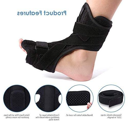 Plantar Fasciitis Support, Drop Foot with Plantar Fasciitis, Stretch, Achilles, Spur Relief, Fits or Foot