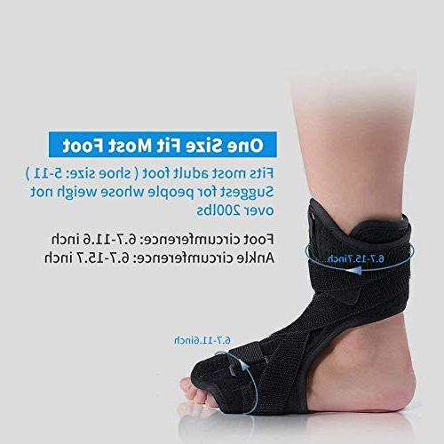 Plantar Support, Drop Foot Brace with Foot Night Plantar Fasciitis, Tendon Achilles, Relief, Fits or Foot