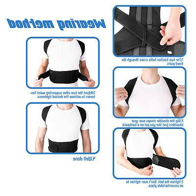Posture Corrector Straight Support Brace Belt Therapy Unisex M3N7