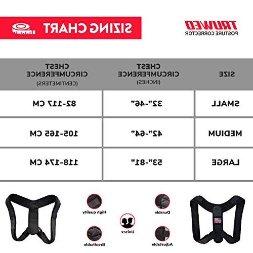Truweo Posture Corrector Men And Women USA Brace Clavicle And Pain Relief From Neck, Back Shoulder