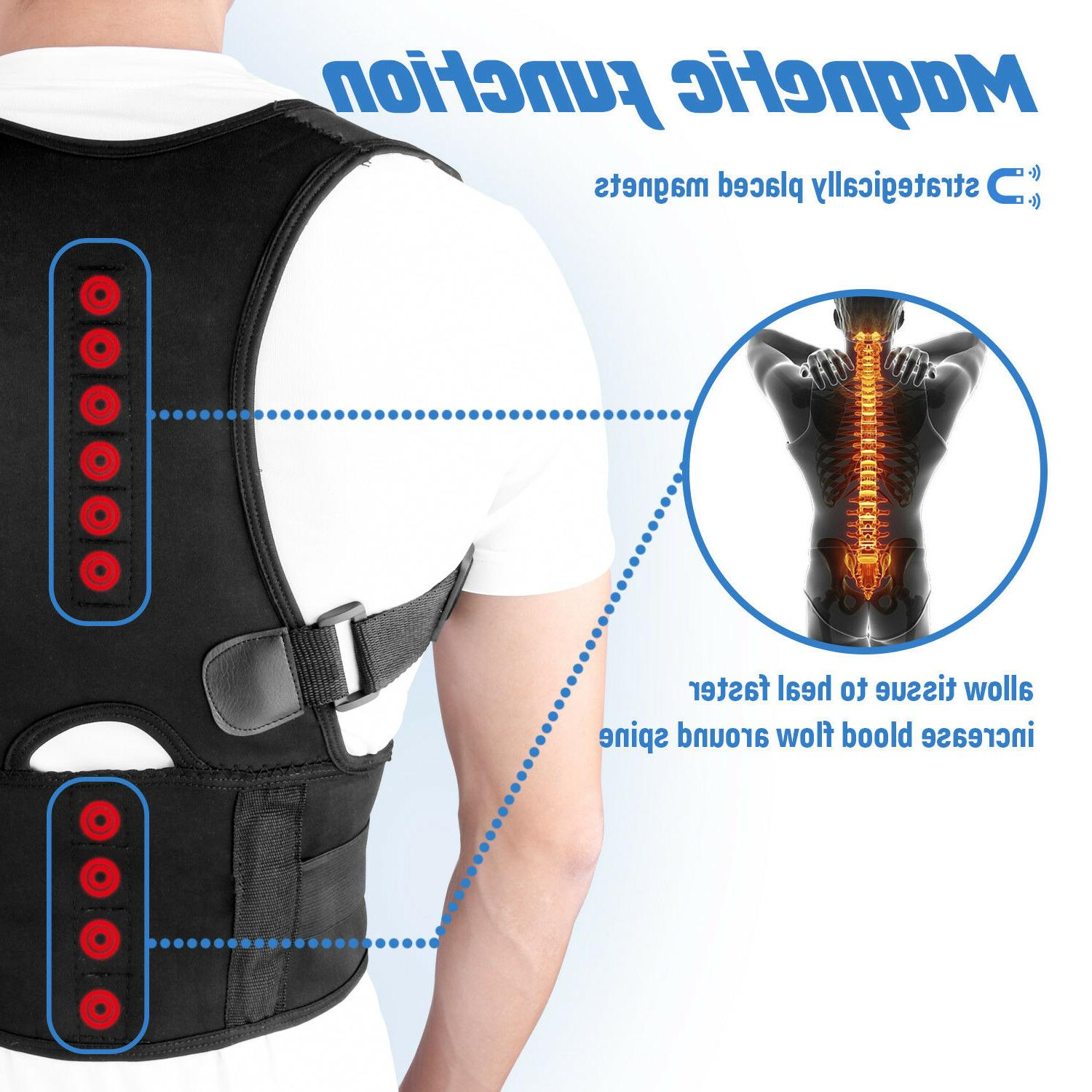 Men Women Magnetic Posture Corrector Support Belt