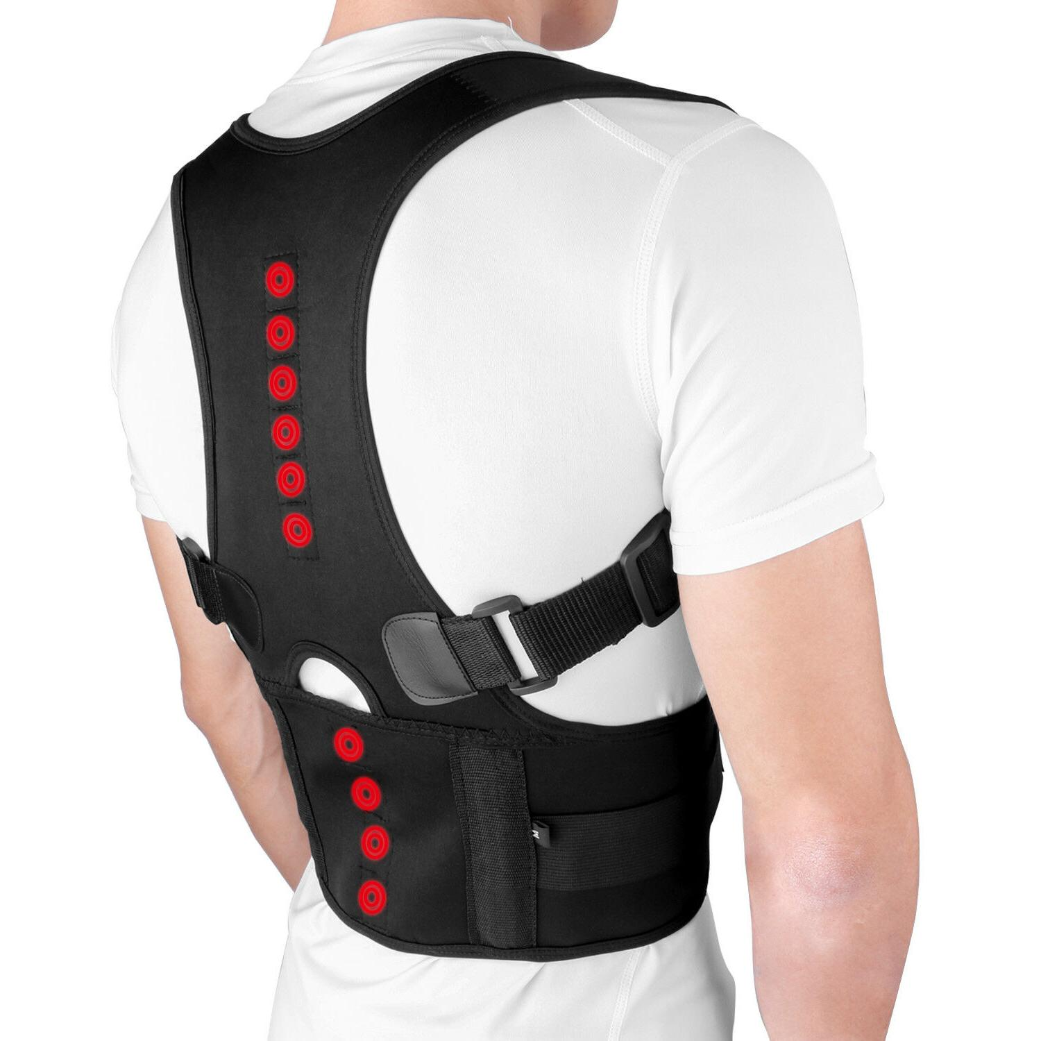 men women adjustable magnetic posture corrector back