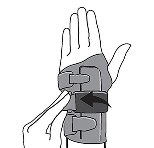 Silhouette Wrist Support, Stabilizing Support, to Fit,