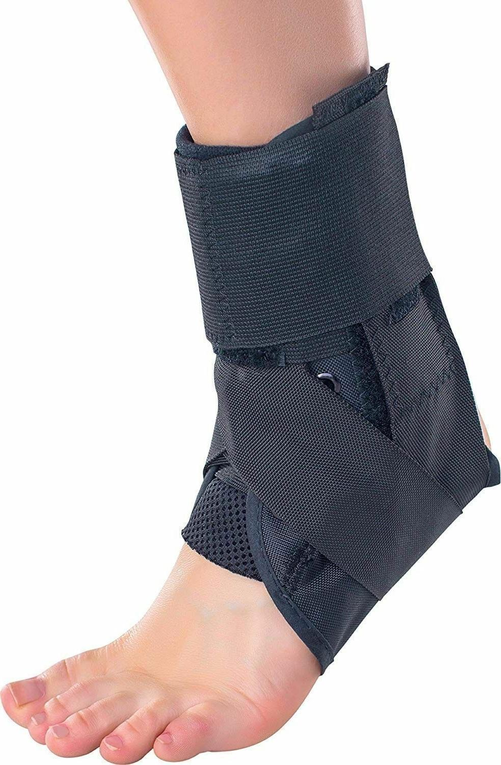 stabilized ankle support brace lace up stabilized