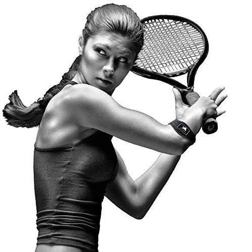 Tennis with Compression Pad Counter-Force Strap, Support Tennis & Elbow, Tendinitis, Lateral Bonus Sweatband