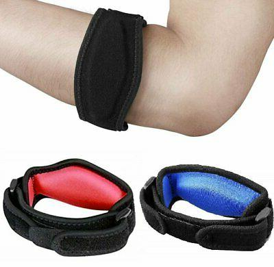 tennis elbow brace strap tendonitis golfers gel