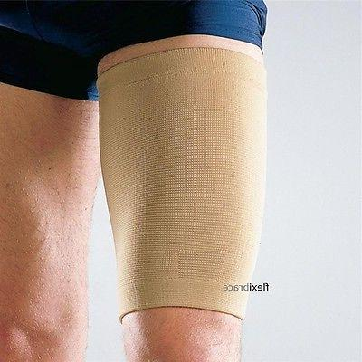 thigh sleeve support compression brace wrap hamstring