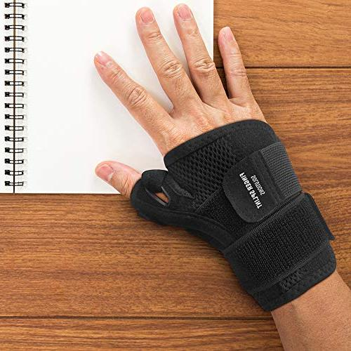 Thumb Spica Splint Tendonitis Fits Both Right Left Hand Men and and Immobilizer. Trigger Thumbs Support