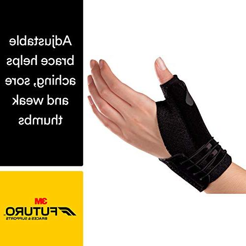 Futuro Thumb Stabilizer, Improves Stability, Support, Black