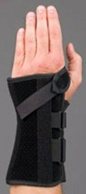 "MedSpec V-Strap Wrist Support Brace, 8"" Black - Left or Righ"