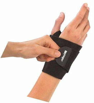 Mueller Wrist Support Wrap, Black, One Size
