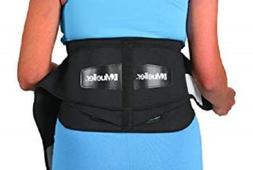 Mueller Lumbar Support Back Brace with Removable Pad Black R