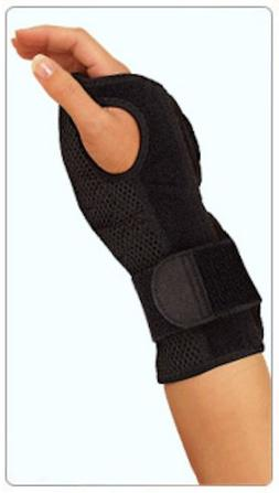 Mueller Sports Medicine Night Support Wrist Brace, Black, Si