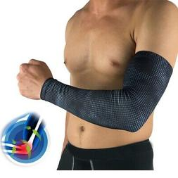 Men's Arm Sleeve Arthritis Elbow Support Brace Sports UV Sun