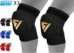 RDX MMA Knee Pads Caps Protector Brace Support Volleyball Gu