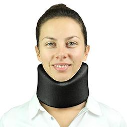Neck Brace by Vive - Cervical Collar - Adjustable Soft Suppo