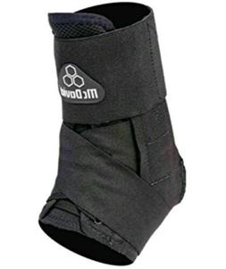 NEW McDAVID 195R ULTRALITE  LACED ANKLE BRACE SUPPORT  BLACK