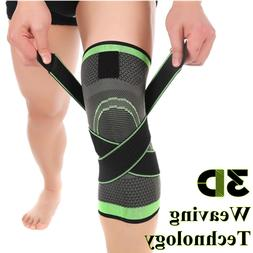 NEW 3D Weaving Knee Brace Breathable Support Running Jogging