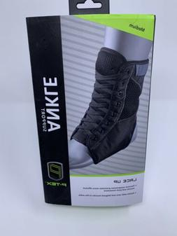 New P-TEX Lace Up Ankle Support Brace in Black Size Medium