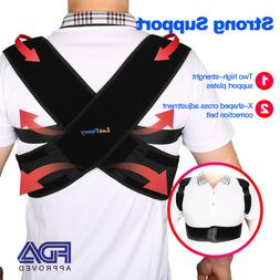 posture corrector back shoulder support brace belt