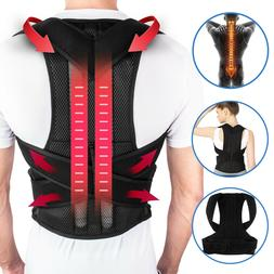 Posture Corrector Lumbar Lower Back Shoulder Support Brace S