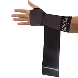 Copper Compression Recovery Wrist Sleeve with Adjustable Wra