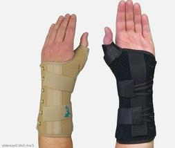 Med Spec Ryno Lacer Wrist and Thumb Support - Long - Black o