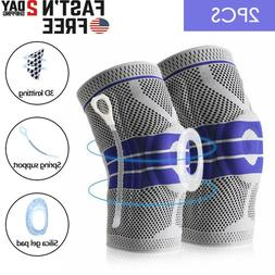 Silicone Spring Knee Brace Sports Support Strong Meniscus Co