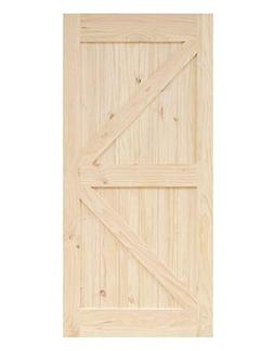 Sliding Barn Door Wood Panel Slab, 30in x 84in Right Arrow D