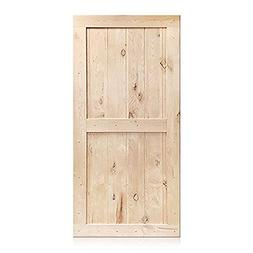 Sliding Barn Door Wood Panel Slab, 42in x 84in Classic Desig