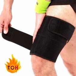 Sport Thigh Wrap Compression Sleeve Supports Brace Hamstring