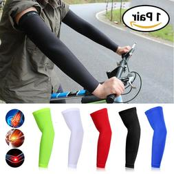 Sports Compression Arm Sleeves Elbow Support Brace Joint Pai